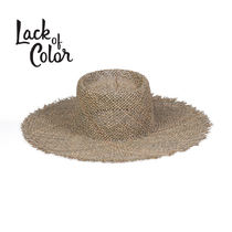 ★Lack of colour★Sunnydip Fray Boater☆ストローハット☆