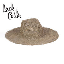 ★Lack of colour★Sunnydip Fray Fedora☆ストローハット☆