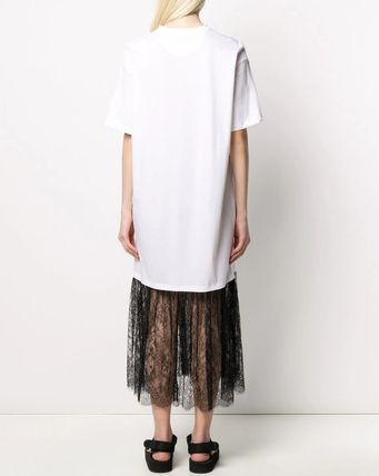 VALENTINO ワンピース V1833 VLOGO T-SHIRT DRESS WITH LACE TRIM(6)