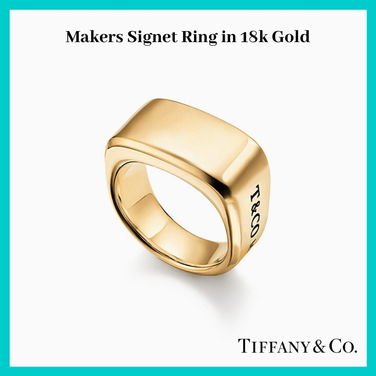 【Tiffany and Co.】 新作/ Makers Signet Ring in 18k Gold (Tiffany & Co/指輪・リング) 51154660