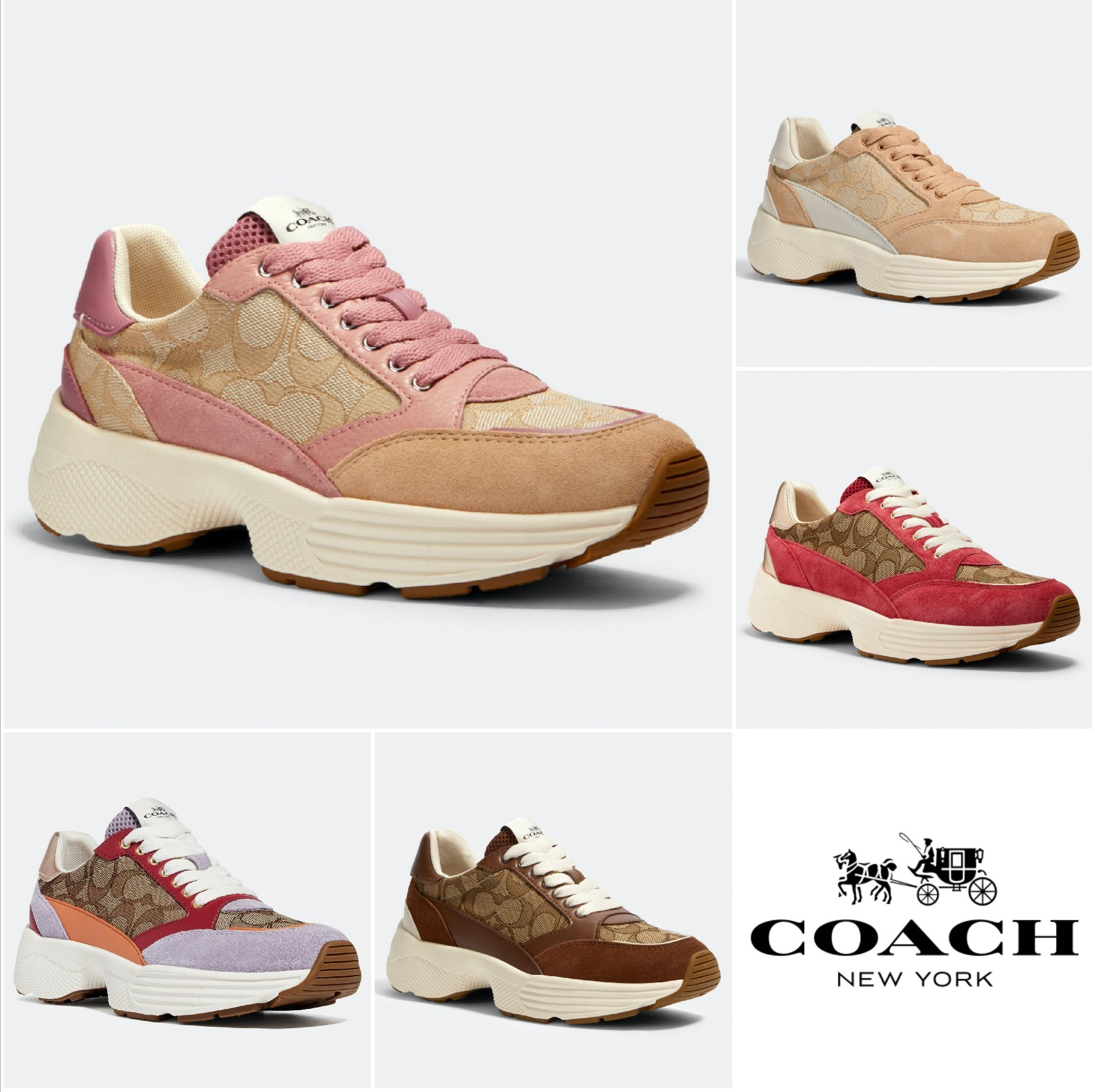 Coach Casual Style Low-Top Sneakers