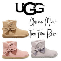 【UGG】CLASSIC MINI TWO-TONE BOW BOOT
