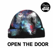 OPEN THE DOOR painting damage short beanie KN77 追跡付