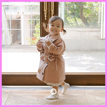 【ArimCloset】indi pink stylish baby cotton trench coat