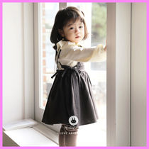 【ArimCloset】dark gray cotton cute baby overall dress