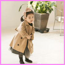 【ArimCloset】beige stylish baby cotton trench coat