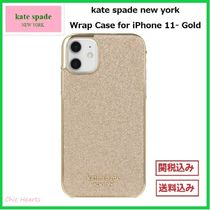 【kate spade】★ゴージャスなGold☆★ Wrap Case for iPhone 11