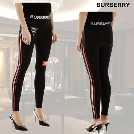 Burberry ボトムスその他 VIP価格【Burberry】Logo Stretch Jersey Leggings 関税込