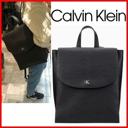 Calvin Klein バックパック・リュック ★CALVIN KLEIN★Texture Leather Backpack☆大人気・正規品☆