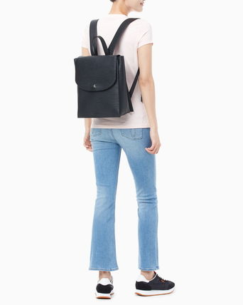 Calvin Klein バックパック・リュック ★CALVIN KLEIN★Texture Leather Backpack☆大人気・正規品☆(6)