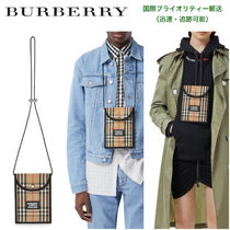 BURBERRY Vintage Check & Leather 携帯ケースランヤード