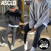 ASCLO Gin Latte Over Sweat Shirt (5color) YM172 追跡付