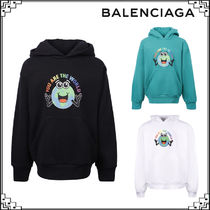 SALE★BALENCIAGA KIDS You are the world プリントフーディー