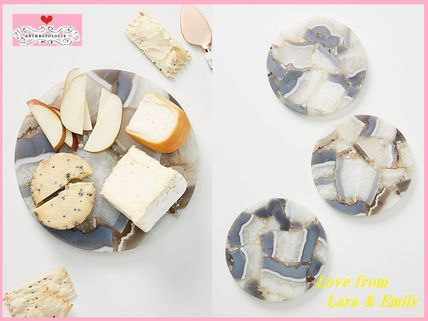 Anthropologie 食器(皿) 最安値*関送料込【Anthro】Quincy Composite Agate Cheese Board