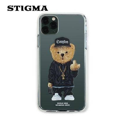 STIGMA スマホケース・テックアクセサリー 【STIGMA】IPHONE CASE COMPTON BEAR 11 / 11 Pro / 11 Pro Max