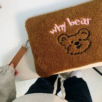 【CoolKid'sTown】why bear fluffy ipad/pcケース 11,13,15inch