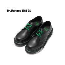 Dr Martens★1461 GS BLACK SMOOTH グリーン ステッチ★兼用