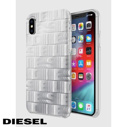 DIESEL スマホケース・テックアクセサリー DIESEL PRINTED CO-MOLD CASE FOR IPHONE XS & IPHONE X ケース