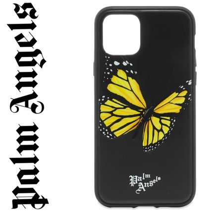 Palm Angels スマホケース・テックアクセサリー 新作!国内発送 PALM ANGELS BUTTERFLY IPHONE 11ケース