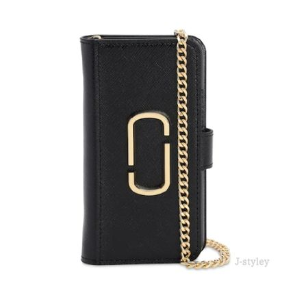 MARC JACOBS スマホケース・テックアクセサリー Marc Jacobs ★チェーンとレザー iphone11 PROケース(2)