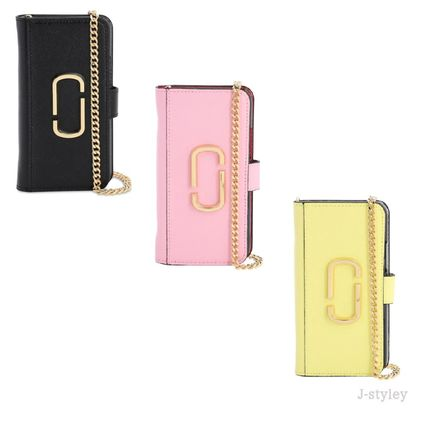 MARC JACOBS スマホケース・テックアクセサリー Marc Jacobs ★チェーンとレザー iphone11 PROケース