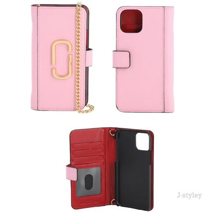 MARC JACOBS スマホケース・テックアクセサリー Marc Jacobs ★チェーンとレザー iphone11 PROケース(5)