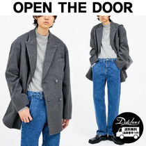 OPEN THE DOOR wool daddy jacket (2 color) SW340 追跡付