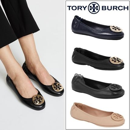 Tory Burch フラットシューズ 【定番・大人気】TORY BURCH MINNIE TRAVEL BALLET FLAT 4COLOR