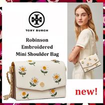 新作セール Tory Burch Robinson Embroidered Mini Shoulder Bag