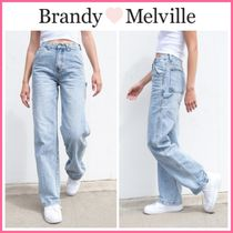 新作! 日本未入荷 ☆Brandy Melville☆ FEANNE LIGHT WASH JEANS