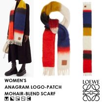 【SS20】LOEWE・ANAGRAM LOGO-PATCH MOHAIR-BLEND SCARF