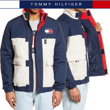 Tommy Hilfiger ジャケットその他 【Tommy Hilfiger】TOMMY JEANS*カラーブロックジャケット/紺