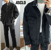 ASCLO CROSSOVER OVERFIT DENIM SETUP BLACK