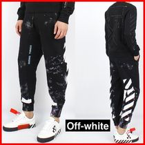 ★Off-White★DIAGONAL GALAXY BRUSHED SWEAT PANTS☆正規品☆