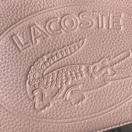 LACOSTE ショルダーバッグ・ポシェット LACOSTE Croco Crew Grained Leather Zip Shoulder Bag NF2970NL(8)