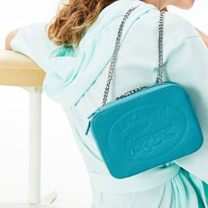 LACOSTE ショルダーバッグ・ポシェット LACOSTE Croco Crew Grained Leather Zip Shoulder Bag NF2970NL(11)