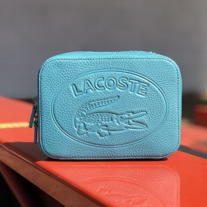 LACOSTE ショルダーバッグ・ポシェット LACOSTE Croco Crew Grained Leather Zip Shoulder Bag NF2970NL(12)