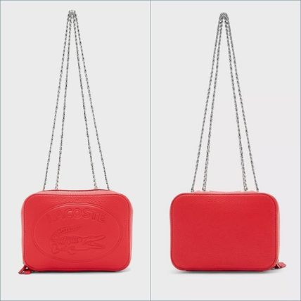 LACOSTE ショルダーバッグ・ポシェット LACOSTE Croco Crew Grained Leather Zip Shoulder Bag NF2970NL(16)