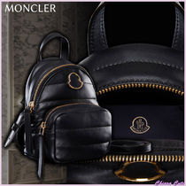 【19AW NEW】MONCLER_Women KILIA SMALL レザーバックパック/黒