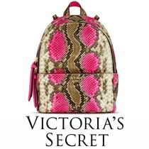 人気★Victoria's secret キュート pink python mini backpack