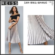 【海外限定】REISS スカート☆BETTY Pleated metallic midi skir