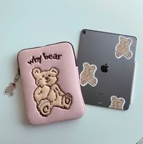 【CoolKid'sTown】why bear ipad/pcケース11,13,15(black/pink)