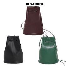 JIL SANDER ジルサンダー Drawstring Leather Bag