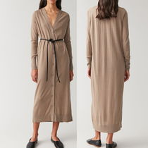 """COS"" LONG WOOL-SILK CARDIGAN BEIGE"