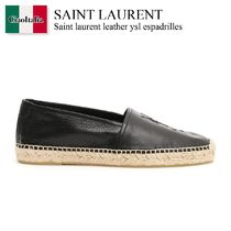Saint laurent leather ysl espadrilles