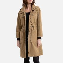 La Redoute★Mid-Length Hooded Parka in Cotton Mix