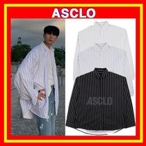 [ASCLO]  ASCLO MEGA-FIT STRIPE SHIRTS ◆2色◆追跡付