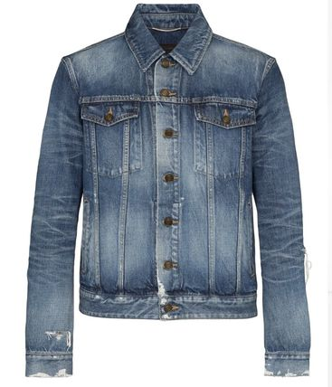 Saint Laurent ジャケットその他 SAINT LAURENT DESTROYED DENIM JACKET