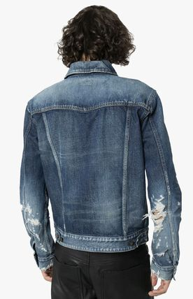 Saint Laurent ジャケットその他 SAINT LAURENT DESTROYED DENIM JACKET(4)