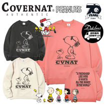 COVERNAT(コボナッ) スウェット・トレーナー COVERNAT×PEANUTS 70th FRIENDSHIP CREW NECK MH1112 追跡付